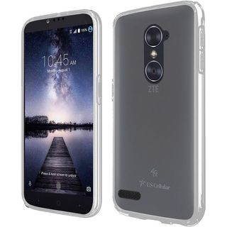 Insten Clear Hard Snap-on Dual Layer Hybrid Crystal Case Cover with Screen Protector For ZTE Carry/ Zmax Pro