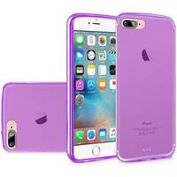 Insten Purple Frosted TPU Rubber Candy Skin Case Cover For Apple iPhone 7