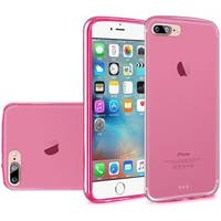 Insten Hot Pink Frosted TPU Rubber Candy Skin Case Cover For Apple iPhone 7 Plus