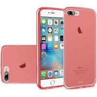 Insten Red Frosted TPU Rubber Candy Skin Case Cover For Apple iPhone 7 Plus