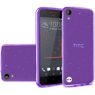 Insten Purple Frosted TPU Rubber Candy Skin Case Cover For HTC Desire 530/ 550/ 555