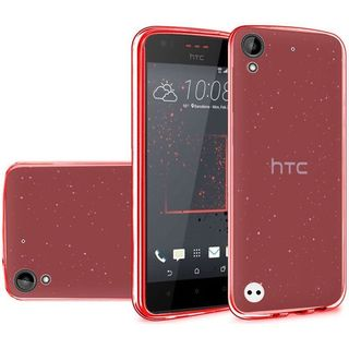 Insten Red Frosted TPU Rubber Candy Skin Case Cover For HTC Desire 530