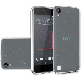 Insten Silver Frosted TPU Rubber Candy Skin Case Cover For HTC Desire 530/ 550/ 555
