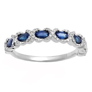10k Gold 3/4ct TGW Oval Aquamarine and Round White Diamond Bridal Halo Ring (I-J, I2-I3)