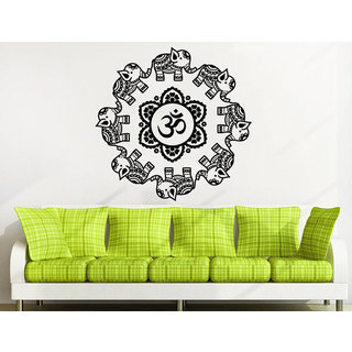 Mandala Ornament Geometric Elephant Indian Moroccan Pattern Namaste Lotus Yoga Sticker Decal size 48