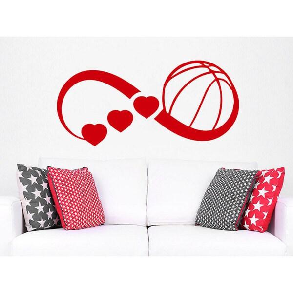 Shop Infinity Symbol Love Basketball Sport Sign Hearts Gym Home