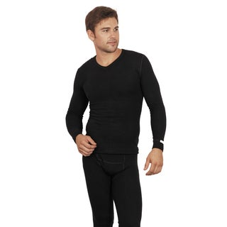 Thermatech Unisex Black Polyester/Viscose/Spandex Long Sleeve Thermal Baselayer Top