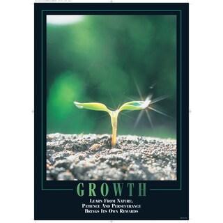 SECO Stewart Superior 'Growth' Multicolored Wooden/Plexiglas Framed Motivational Poster