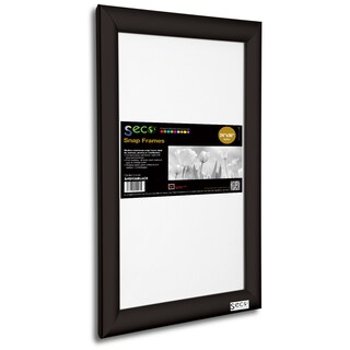 SECO SN2436DW Dark Wood 24-inch x 36-inch Front-load Easy-open Snap Poster/Picture Frame