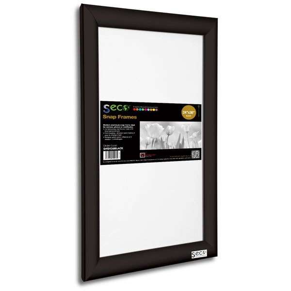 Shop SECO SN2436DW Dark Wood 24-inch x 36-inch Front-load Easy-open ...