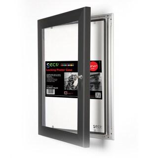 SECO Stewart Superior Black Aluminum 8.5-inch x 11-inch Rustproof Shatterproof Locking Indoor/Outdoor Poster Case