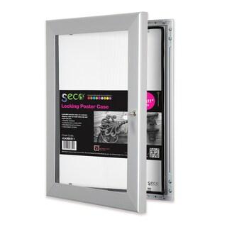 SECO Stewart Silvercolored Aluminum 8.5-inch x 11-inch Shatterproof Rustproof Superior Locking Indoor/Outdoor Poster Case