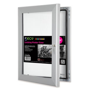 SECO Stewart Superior 40-inch x 60-inch Locking Indoor/Outdoor Poster Case with Silvertone Aluminum Frame