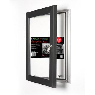 SECO Stewart Black Aluminum 18-inch x 24-inch Shatterproof Rustproof Superior Locking Indoor/Outdoor Poster Case