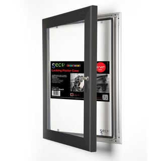 SECO Stewart Superior Black 11-inches Wide x 17-inches High Shatterproof Rustproof Locking Indoor/Outdoor Poster Case