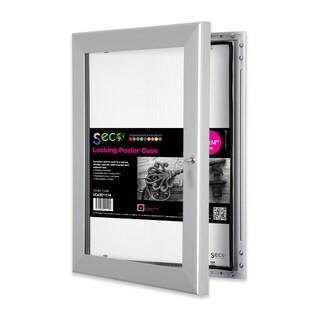 SECO Stewart Silver-framed 11-inch x 14-inch Superior Locking Indoor/Outdoor Shatterproof/Rustproof Poster Case