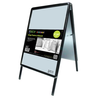 SECO Stewart Superior Outdoor Black 22-inch x 28-inch Weather-resistant Snap-desing A-frame Sidewalk Sign