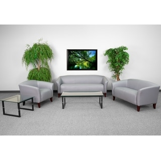 HERCULES Imperial Series Reception Set in Grey Leather