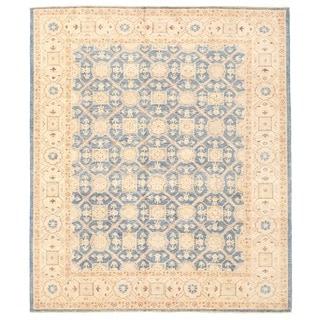 Herat Oriental Afghan Hand-knotted Vegetable Dye Khotan Wool Rug (8'1 x 9'6)