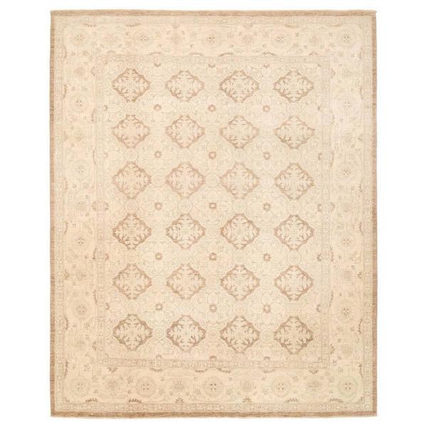 Herat Oriental Afghan Hand-knotted Vegetable Dye Khotan Wool Rug (8'1 x 10'2)
