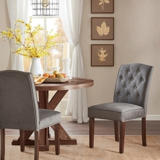 Madison Park Misha Navy Tufted Dining Chair set of 2