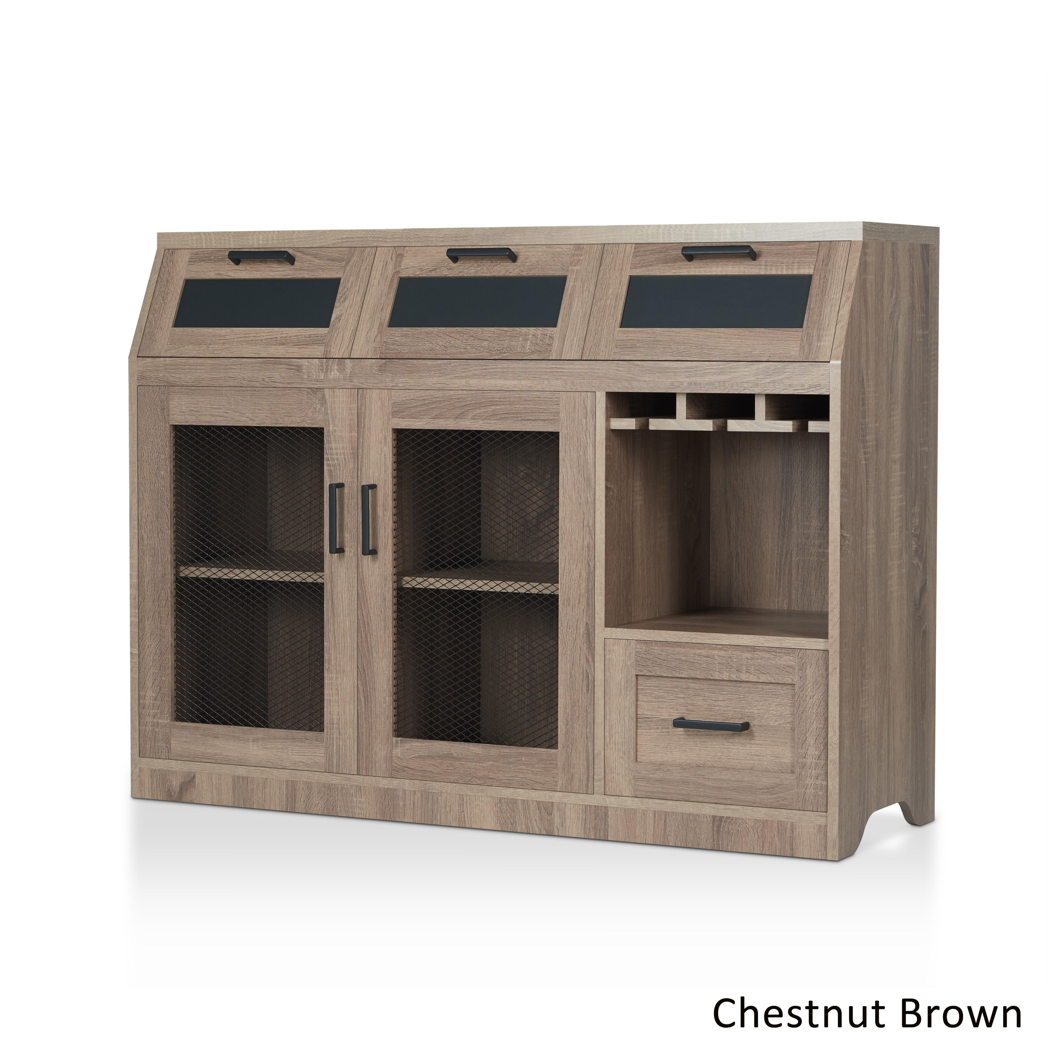 Furniture of america wenoga industrial multi storage for Furniture of america gelenan industrial cement like multi storage buffet