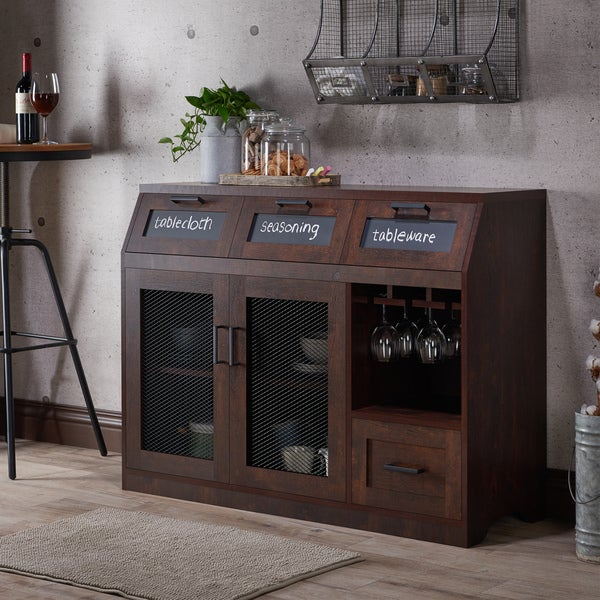 Wonderful Furniture Of America Wenoga Industrial Multi Storage Buffet/ Server   Free  Shipping Today   Overstock.com   20740897
