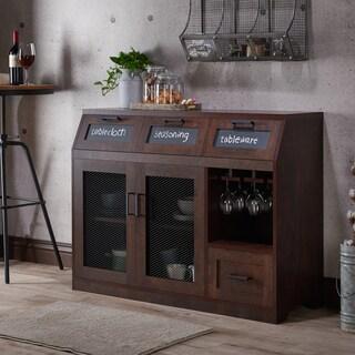 Furniture of America Wenoga Industrial Multi-Storage Buffet/ Server