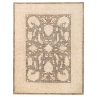 Herat Oriental Afghan Hand-knotted Vegetable Dye Oushak Wool Rug (5' x 6'9)