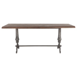 Regina Reclaimed Weathered Gray Teak Dining Table 76""