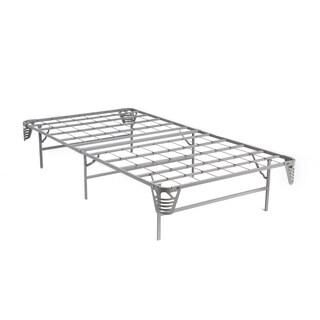Furniture of America Frel Silver Metal Base Foundation Bed Frame