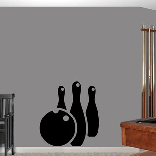 Bowling Ball and Pins Wall Decal (33'' x 36'')