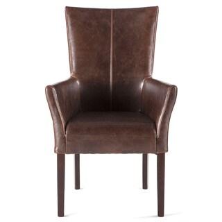 Jaden Brown Leather Arm Chair