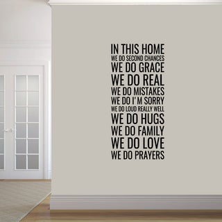 'In This Home' Wall Decal (22'' x 48'')