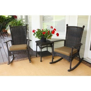 Tortuga Outdoor Classic Rocking Chair Dark Roast 3-piece Set