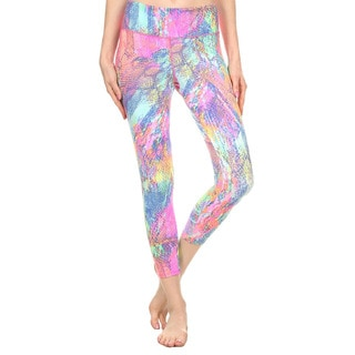 Dippin' Daisy Women's Multicolor Snakeskin-print Indoor and Outdoor Active Sports Capri Pants