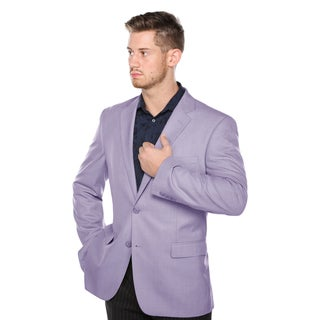 Verno Men's Lavender Classic Fit Pic-stitch Notch Lapel Fashion Blazer