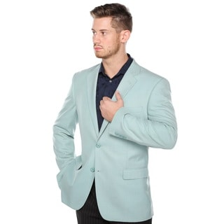 Verno Men's Pic-Stitch Light Green Classic Fit Notch Lapel Fashion Blazer
