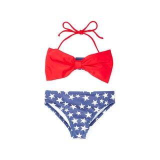 Dippin' Daisy's Girl's Blue Star Bow Bandeau Bikini