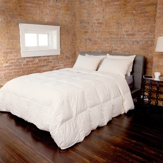 Responsibly Sourced 550 Fill Power White Down Comforter with Organic Cotton