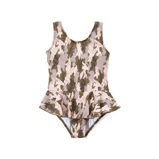 Dippin' Daisy's Girls' Brown Camo 1-piece Swimdress
