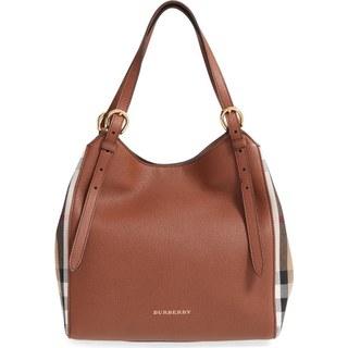 Burberry Canterbury Tan Check Leather Handbag