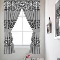 Luxury Bath Collection Window Curtain Set with Tiebacks