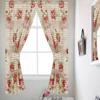 Bathroom Window Curtain Set with Tiebacks