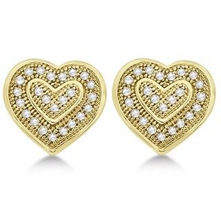 14k Gold 0.14ct Double Heart Shaped Diamond Earrings