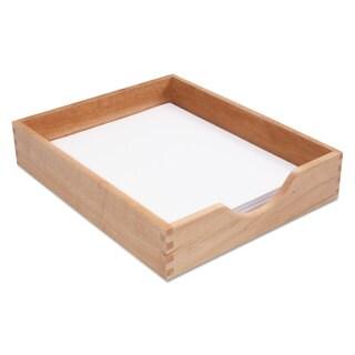 Carver Hardwood Letter Stackable Desk Tray Oak