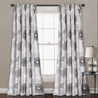 Lush Decor Multi Circles Room Darkening Window Curtain Panel Pair