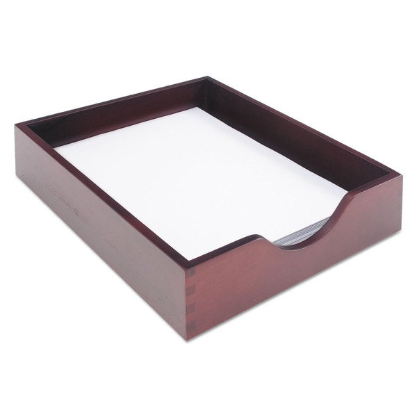 Carver Hardwood Letter Stackable Desk Tray Mahogany (12.5 Inch Long X 10.25  Inch Wide X