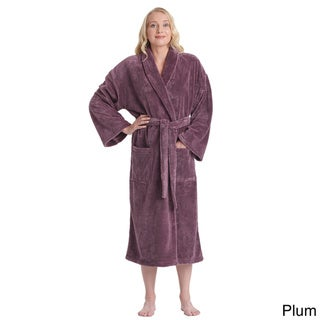 Women's Sateen Touch Turkish Fleece Bathrobe