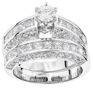 Luxurman 14k Gold 5 1/10ct TDW Diamond Designer Engagement Ring Set (G-H, SI1-SI2)